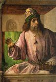 25 -Urbino, Galleria Nazionale delle Marche - Giusto di Gand, Ritratto di Aristotele, sala 18