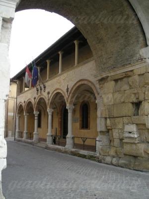 33 - Fano. Logge di San Michele La chiesa e l'Ospizio di San Michele
