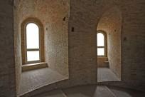 28- Urbino - Rampa Elicoidale. Grazie a questa magnifica opera di ingegneria, il Duca a cavallo poteva arrivare dalle stalle ducali direttamente dal Palazzo Ducale. Oggi le Rampe sono un modo lento e panoramico ma molto faticoso per accedere al centro storico.