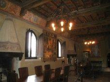 59 -Gradara - Interno del castello o rocca. L'interno della rocca conserva, in alcune sale, affreschi rinascimentali.