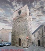 72 - Fano. La Torre di S. Elena, in Via Nolfi. E' una delle 5 casi torre presenti nel centro storico, tre lungo Via Nolfi e due lungo Via Arco d'Augusto.