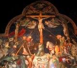 43 - Urbino - All'interno dell'Oratorio. Lorenzo e Jacopo Salimbeni -Crocifissione.