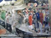 47 - Urbino - All'interno dell'Oratorio. Lorenzo e Jacopo Salimbeni- Giovanni Battista battezza Gesù- particolare