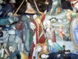 44 -Urbino - All'interno dell'Oratorio. Lorenzo e Jacopo Salimbeni- Giovanni Battista ù Maddalena Crocifissione Maddalena e Maria svenuta