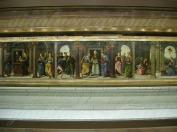 62 - Fano, interno della Chiesa di S. Maria Nuova, predella della Vergine in trono col Bambino e santi , del Perugino e aiuti (forse Raffaello