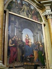 67 -Fano, interno della Chiesa di S. Maria Nuova, particolare