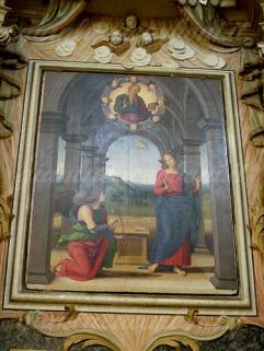 69-Fano, particolare Chiesa di S.Maria Nuova Annunciazione del Perugino