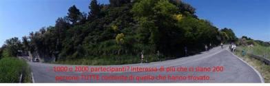 """53 - Parco San Bartalo. Un passaggio della"""" Panoramica"""" il piacere di correre fra celo e mare. da Gabicce Monte a Pesaro, di 21,097 km. Anche se non competitiva, per lo scopo benefico organizzata, è gradita ancor di più la partecipazione di tanti podisti."""