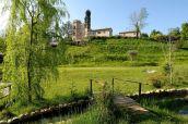 117 - Fano. Panorama del castello di Monte Giove. Parco della struttura-