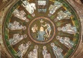 67 -Ravenna, Battistero degli Ariani. Mosaico del battesimo di Cristo.
