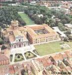 131 - Ravenna. Una veduta area della Basilica con la Pinacoteca S Maria in Porto