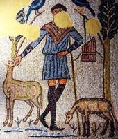 145 - Ravenna. Domus dei Tappeti di Pietra. Il Buon Pastore