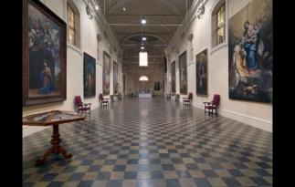 119 - Forlì. Il palazzo del Merenda - sale interne, pinacoteca civica Melozzo degli Ambrogi.