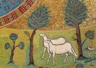 177 - Ravenna. Basilica di Sant'Apollinare in Classe. Mosaico