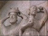 30,2 - Particolari. I Magi sono poi raffigurati mentre porgono i loro doni alla Madonna col Bambino. All'estrema destra Giuseppe assiste alla scena.