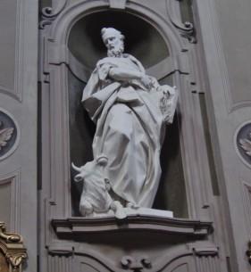 156 -Chiesa di Santa Lucia, interno particolare. Luca Evangelista