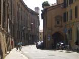 4 -Forlì . Corso Garibaldi visto dal portone di Palazzo Sangiorgi, in fondo Piazza Saffi