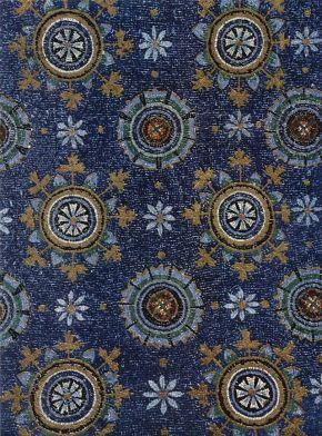 13 -Mausoleo di Galla Placida. Decorazione della volta con fiori stilizzati