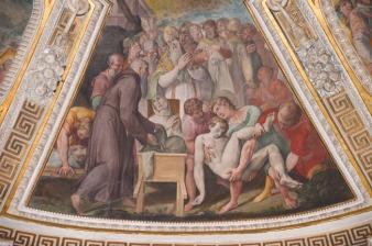 42 - Particolare del Soffitto Affrescato - Chiesa di San Mercuriale (Forlì)