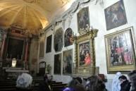50 - -Forli-Abbazia-di-San-Mercuriale- Nella navata sinistra, nella Cappella del Sacramento, una tavola raffigurante un Crocefisso e Santi Giovanni, Gualberto e Maddalena, sempre di di Francesco di Simone Ferrucci da Fiesole