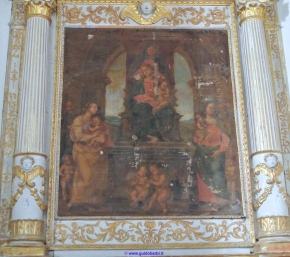 190- Forlì -Particolare interno Santuario-di-Forno- sec XV