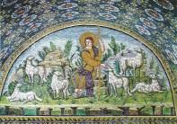 17 -Mausoleo di Galla Placida, particolare lunetta del buon Pastore