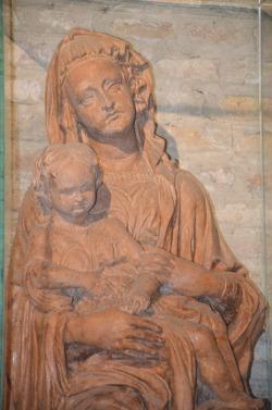 49- Particolare della Scultura della Madonna con Bambino - Chiesa di San Mercuriale (Forlì)