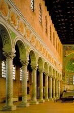 156 - Ravenna. Basilica di Sant'Apollinare in Classe. particolari sulla sinistra