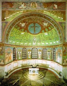 158 - Ravenna. Basilica di Sant'Apollinare in Classe. Catino absidale ravvicinato