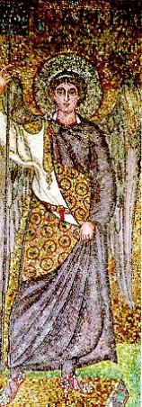 162 - Ravenna. Basilica di Sant'Apollinare in Classe. Particolare all'interno