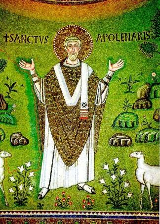 163 - Ravenna. Basilica di Sant'Apollinare in Classe. Il primo vescovo di Ravenna