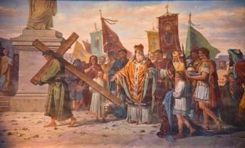 77- Dipinto Gesu Porta la Croce - Duomo di Forlì e Cattedrale di Santa Croce (Forlì)