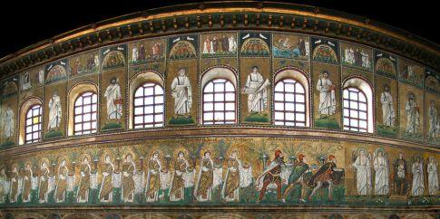 41 - Ravenna. Basilica di Sant'Apollinare Nuovo, mosaici-della-navata