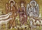 43 -Ravenna, Sant'Apollinare nuovo. Cristo divide le pecore dai capretti (inizio del VI secolo