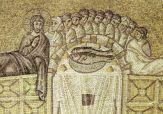 47 -Ravenna, sant'apollinare nuovo. Ultima cena (inizio del VI secolo