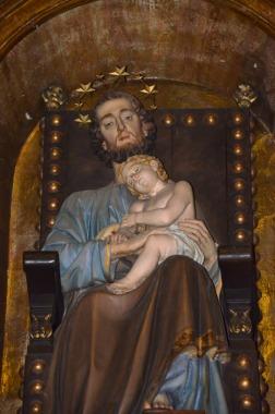 98 - Particolare della Statua di San Giuseppe con Bambino - Duomo di Forlì e Cattedrale di Santa Croce (Forlì)