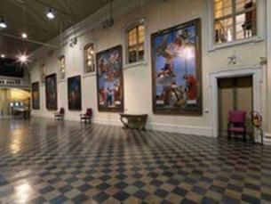 114- Forlì. Il palazzo del Merenda - sale interne, pinacoteca civica Melozzo degli Ambrogi.
