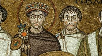 31 - Basilica di San Vitale, corteo Gustiniano, particolare