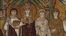 33- Basilica di San Vitale, interno, corteo Teodora e le sue dame. particolare