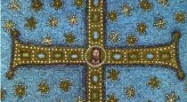 161 - Ravenna. Basilica di Sant'Apollinare in Classe. Croce centrale dell' abside