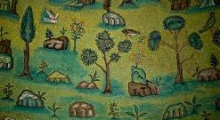 179 -Ravenna. Basilica di Sant'Apollinare in Classe. Il prato in mosaico dell'abside