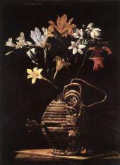 109 - Fiasca con fiori attribuito a Tommaso Salini