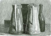 121- Forlì. Il palazzo del Merenda. Interno sale Natura-morta-con-5-oggetti di Morandi