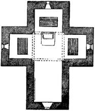 3 - Ravenna. Pianta del mausoleo di Galla Placidia
