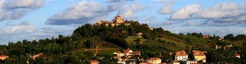 118 - Cesena. Abbazia di Santa Maria del Monte e le colline.