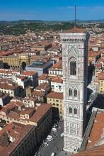 71 - Firenze. Veduta dall'alto del Campanile di Giotto.