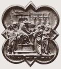 114 - Firenze. Battistero. Lorenzo Ghiberti, Pilato si lava le mani, formella della Porta nord del Battistero