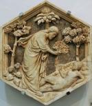 147 - Andrea Pisano. Creazione di Adamo. Rilievo per il Campanile di Giotto. Marmo. Museo dell'Opera del Duomo. Firenze