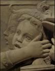 188 - Firenze. Il Museo dell'Opera del Duomo. Particolare della Cantoria di Luca della Robbia..