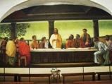 150 - Cesena - Abbazia di Santa Maria del Monte. PARTICOLARE NELLA CRIPTA. Particolare de l'Ultima Cena, dipinto presente all'interno della Cripta, opera di Alfredo Pettinari del 1984.
